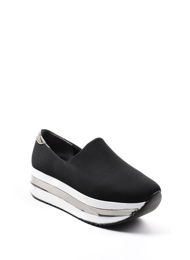 Sapin Dolgu Tabanlı Sneaker Ayakkabı Siyah